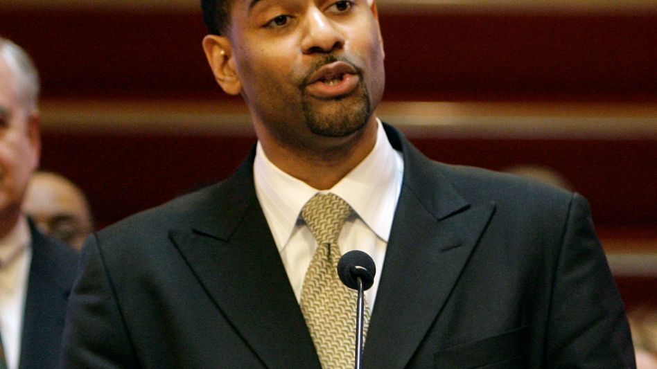 The Rev. Otis Moss III speaks at Trinity United Church of Christ in Chicago (2008 photo).