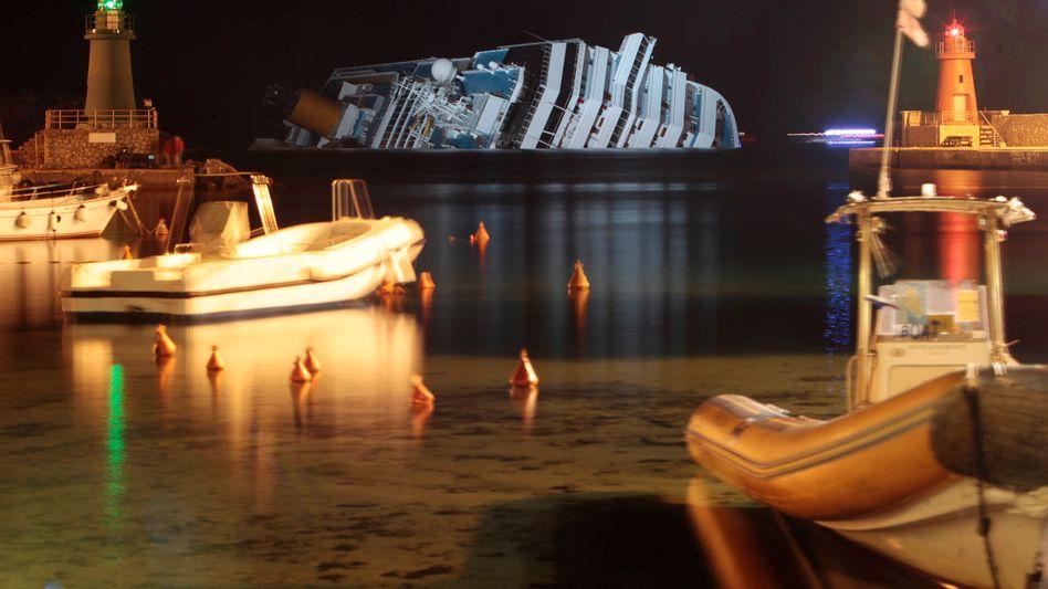 """""""Costa Concordia"""" am Mittwochabend: Sie soll der Insel schon einmal nahe gekommen sein"""