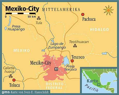 Zweitgrößte Siedlung der Welt: Mit mehr als 20 Millionen Einwohnern hat Mexico-City gigantische Ausmaße angenommen