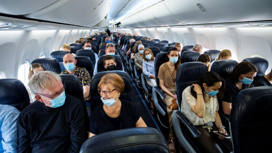 Fluggäste in Frankfurt am Main