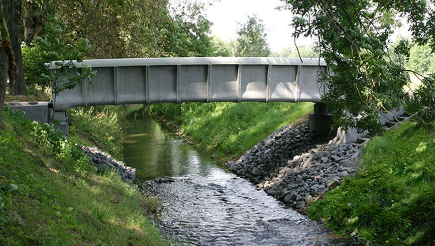 Brücke aus Carbonbeton