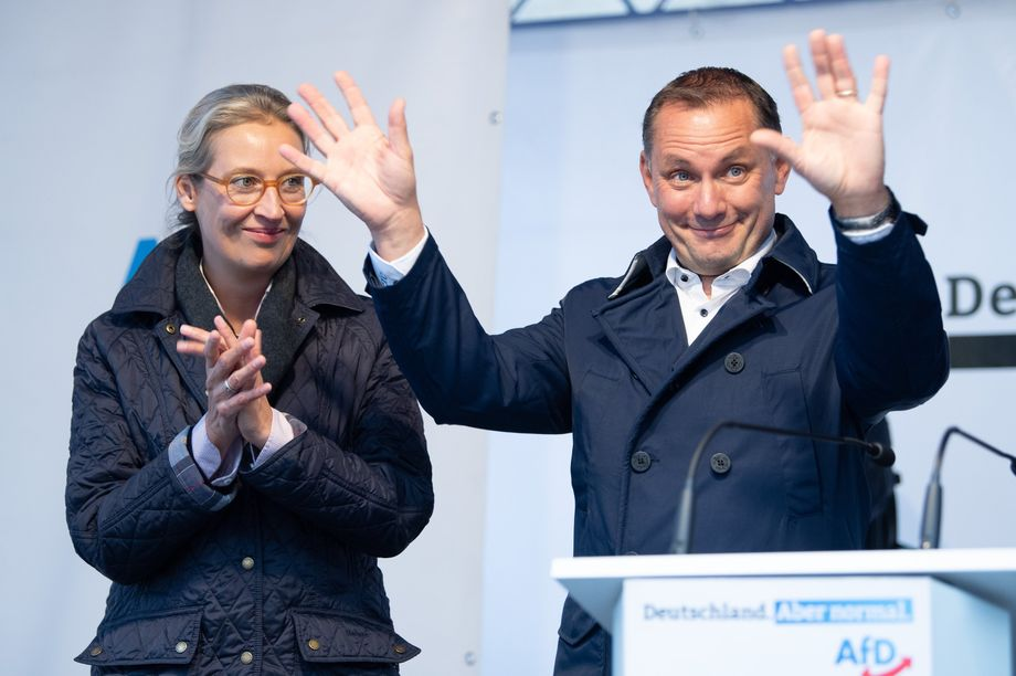 The AfD's lead candidates, Alice Weidel and Tino Chrupalla