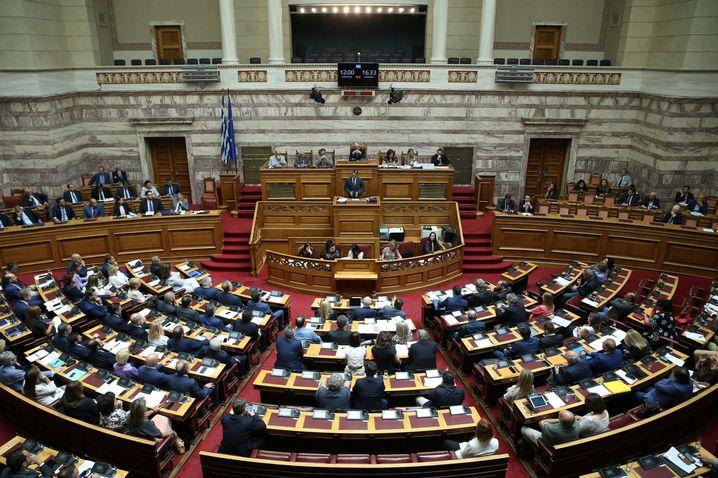"""Kyriakos Mitsotakis im Parlament: """"Universitäten von Feuerbomben befreien"""""""