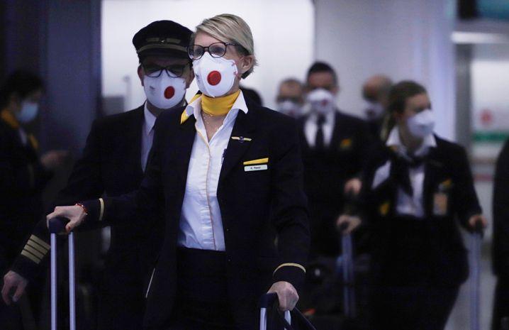 Lufthansa-Crew in Hongkong