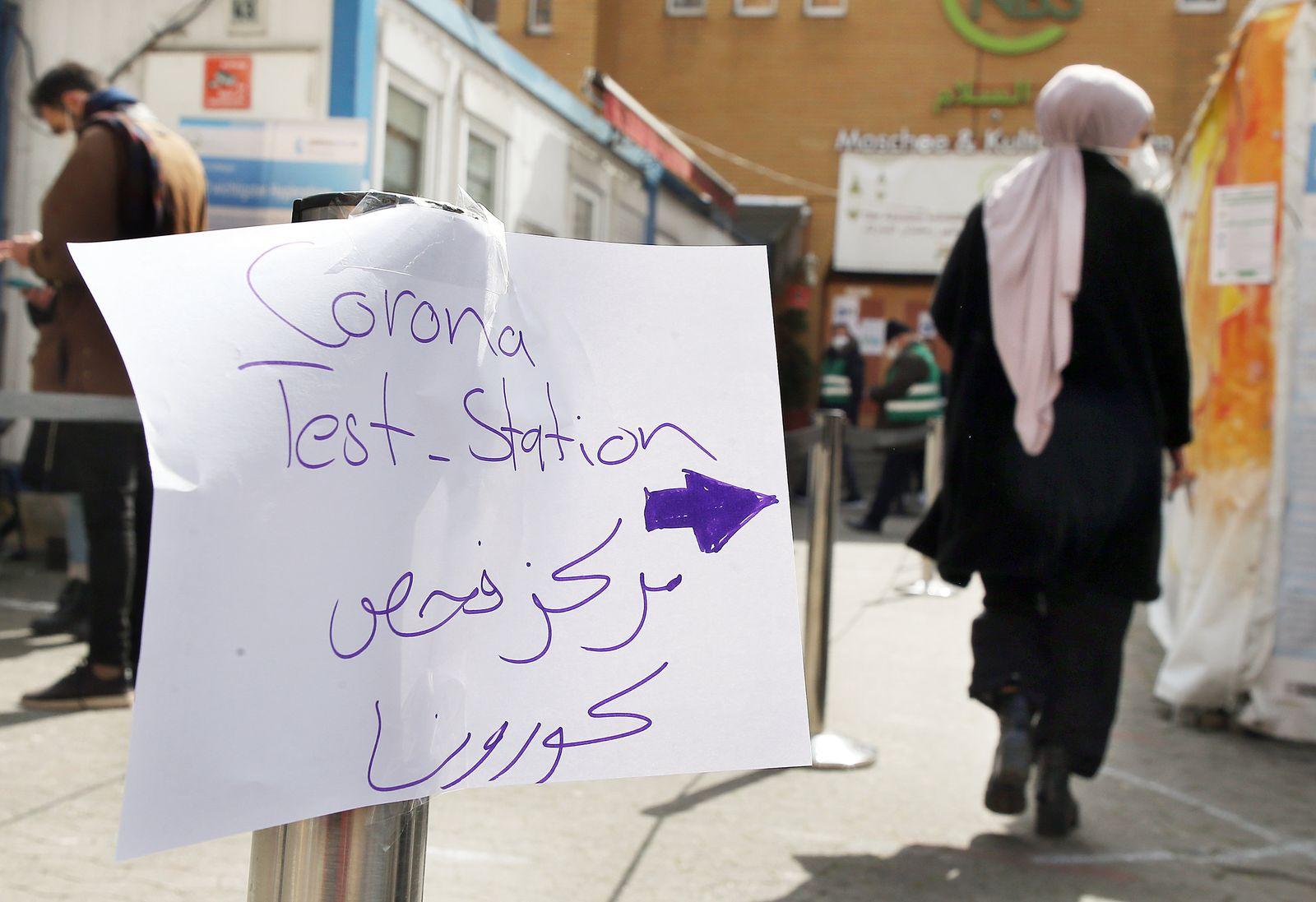Coronavirus - Test an Moschee