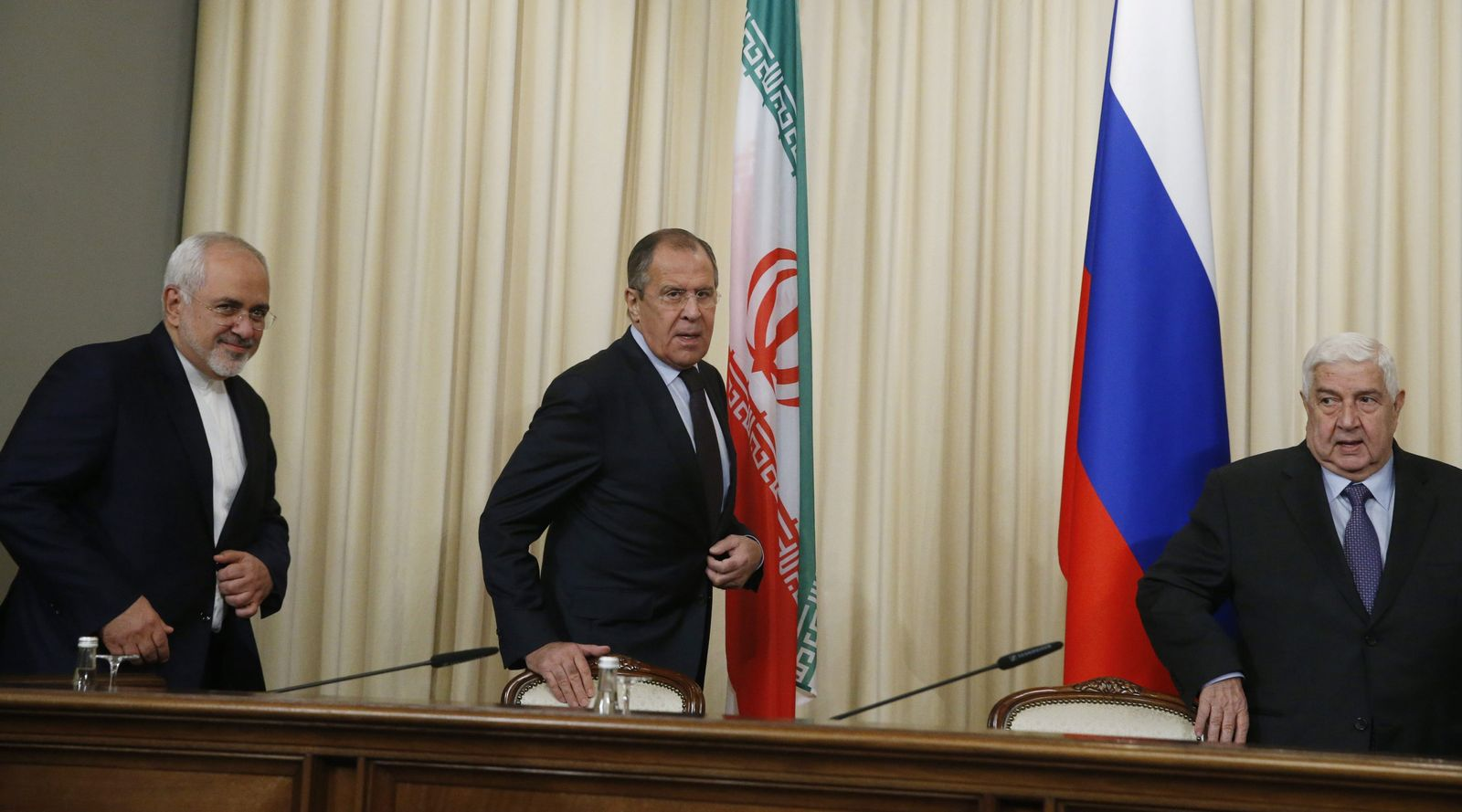 Moskau / Aussenministertreffen / Javad Zariv / Walid al-Moallem / Sergej Lawrow