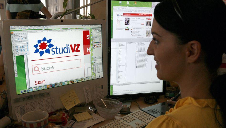 Arbeitsräume des Online-Netzwerks StudiVZ in Berlin (Archivbild).