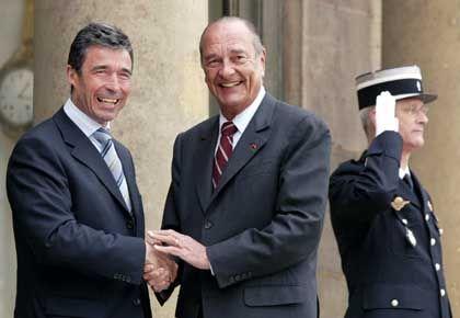 Ministerpräsident Fogh Rasmussen, französischer Präsident Chirac: Log der dänische Regierungschef?