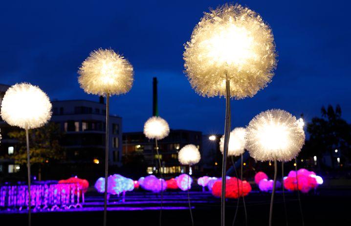 Essen Light Festival (2018): Riesige Pusteblumen von Olivia d'Aboville
