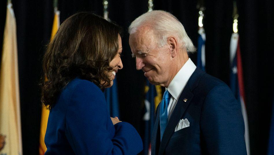 Joe Biden und seine Vizepräsidentschaftskandidatin Kamala Harris