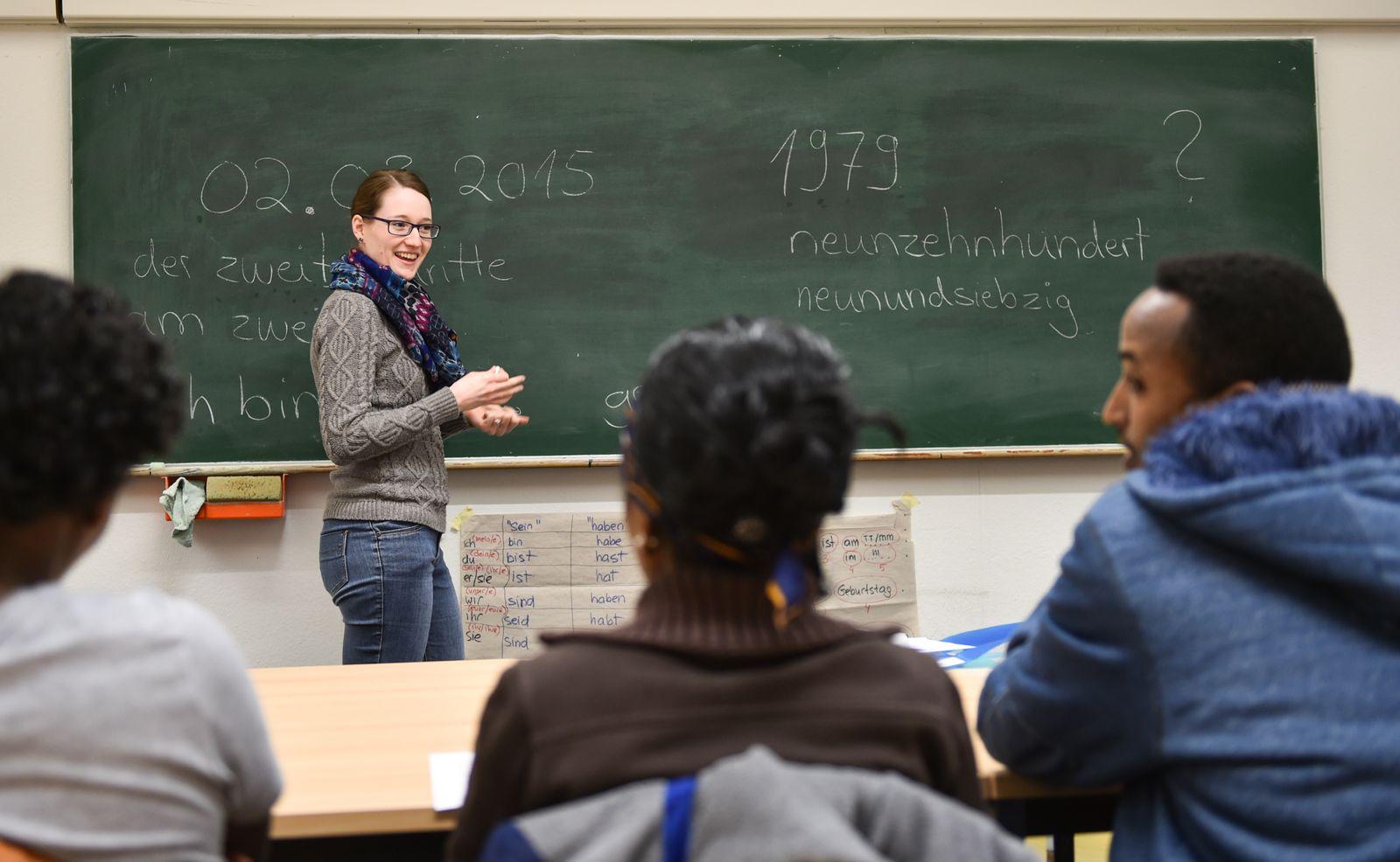 Deutschkurse für Flüchtlinge