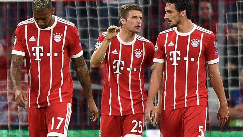Boateng, Müller und Hummels im Jahr 2017