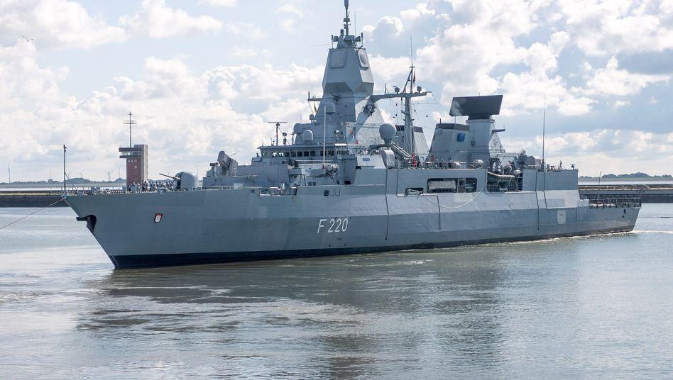 Die Fregatte »Hamburg« vor ihrem Mittelmeereinsatz im Rahmen der Auslandsmission »Irini« der EU (Archiv): Die EU betont immer wieder, dass die Mission unparteiisch sei