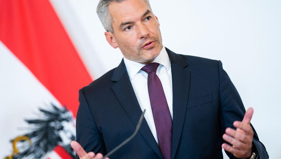 Österreichs Innenminister Karl Nehammer