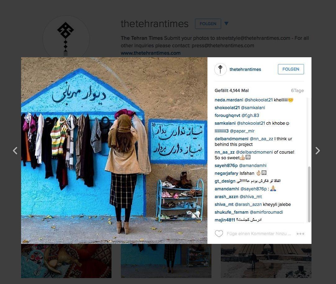 EINMALIGE VERWENDUNG NUR ALS ZITAT Screenshot/ The Tehran Times