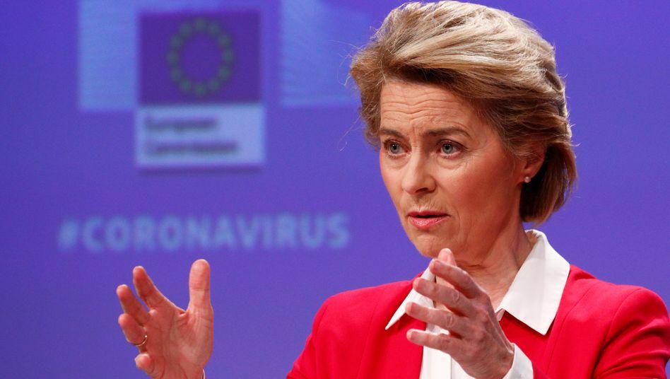 """Kommissionschefin von der Leyen: """"Reaktion, die in Bezug auf Dimension, Geschwindigkeit und Solidarität beispiellos ist"""""""
