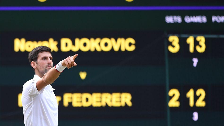 Das Endspiel zwischen Djokovic und Roger Federer ging nach fünf Sätzen in den Match-Tiebreak