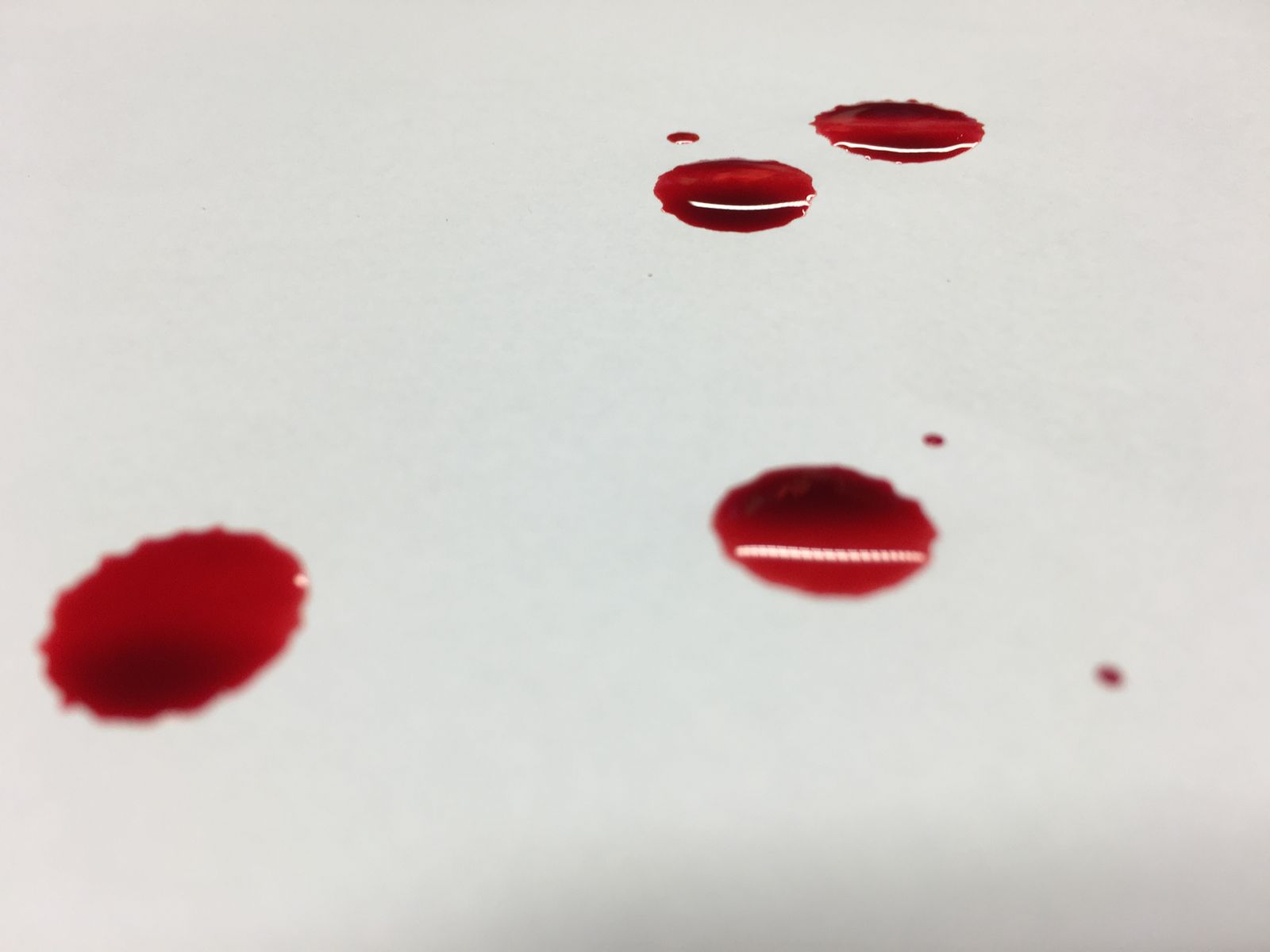 Blood Stains On White Background