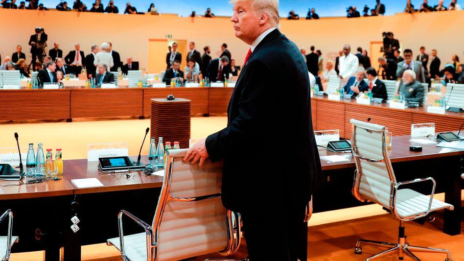 Trump beim G20-Gipfel in Hamburg