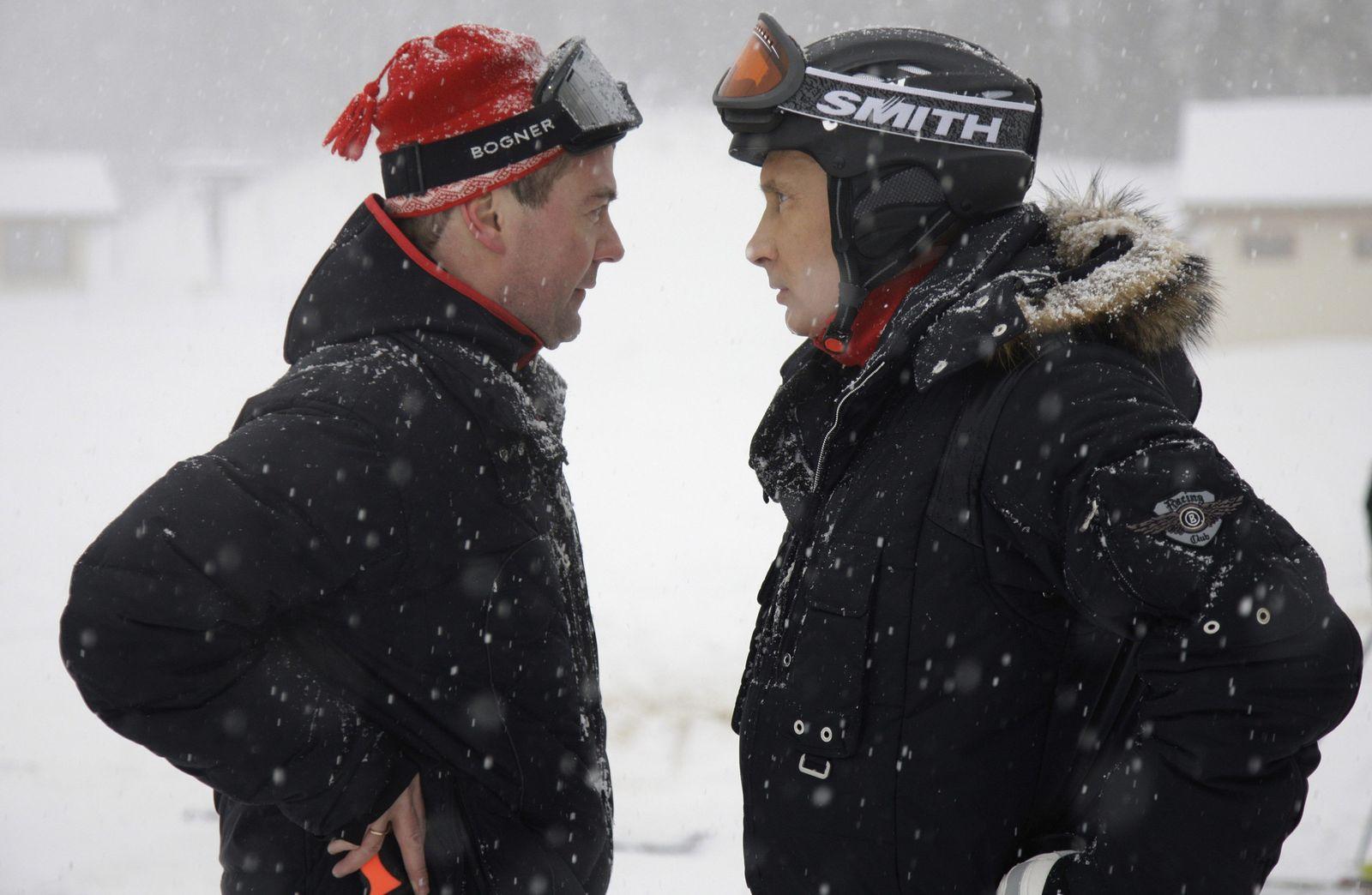 Putin / Medwedew / Winterurlaub