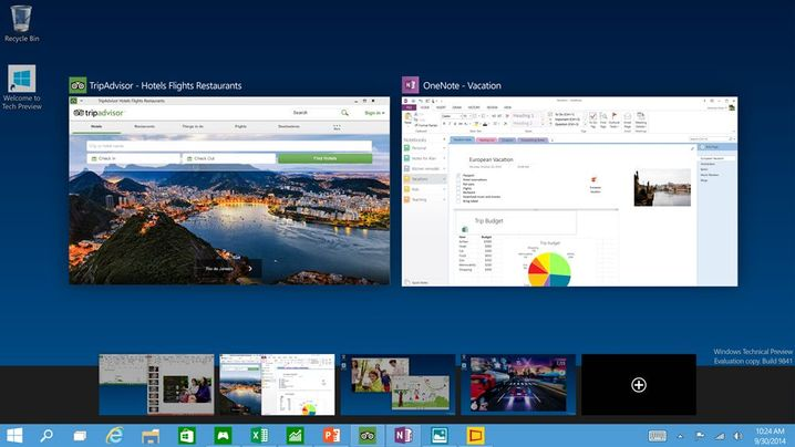 Mehr Schreibtisch wagen: Windows 10 bietet die Möglichkeit, mehrere virtuelle Desktops anzulegen