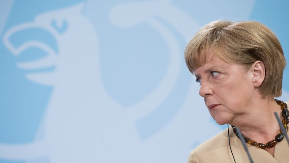 Angela Merkel during a joint news conference on Friday with Greek Prime Minister Antonis Samaras.