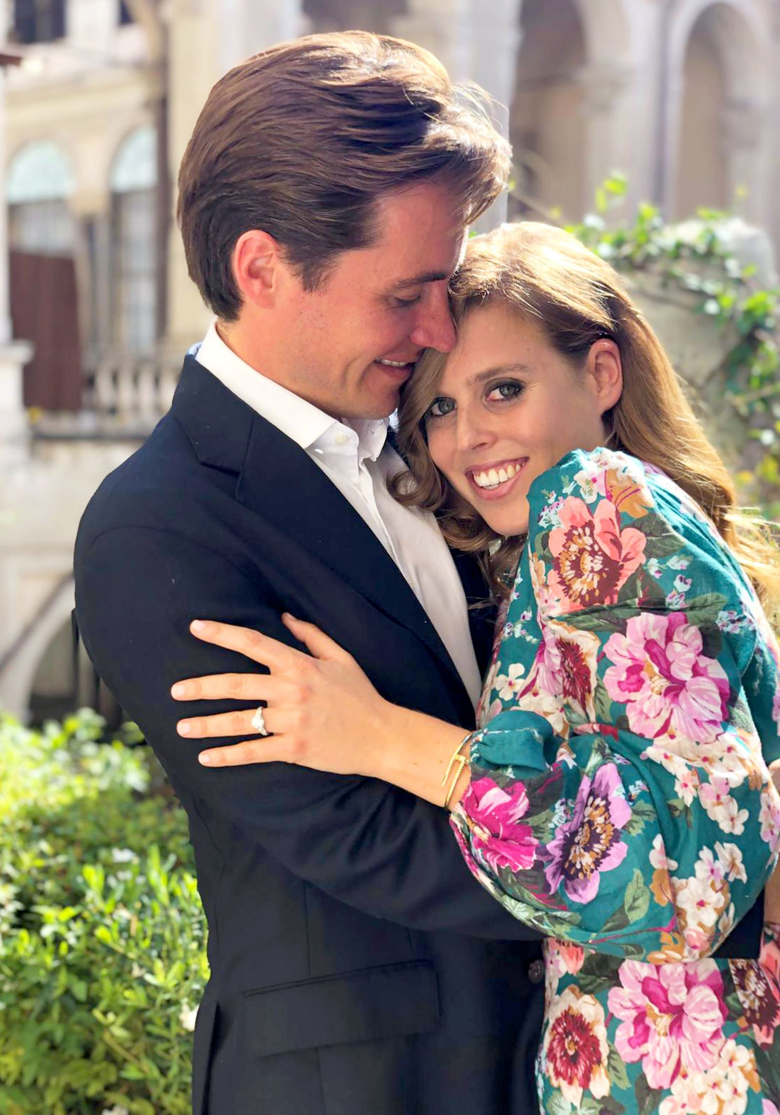 26/09/2019 Undated picture released by Buckingham Palace of Princess Beatrice and Mr Edoardo Mapelli Mozzi, whose engage