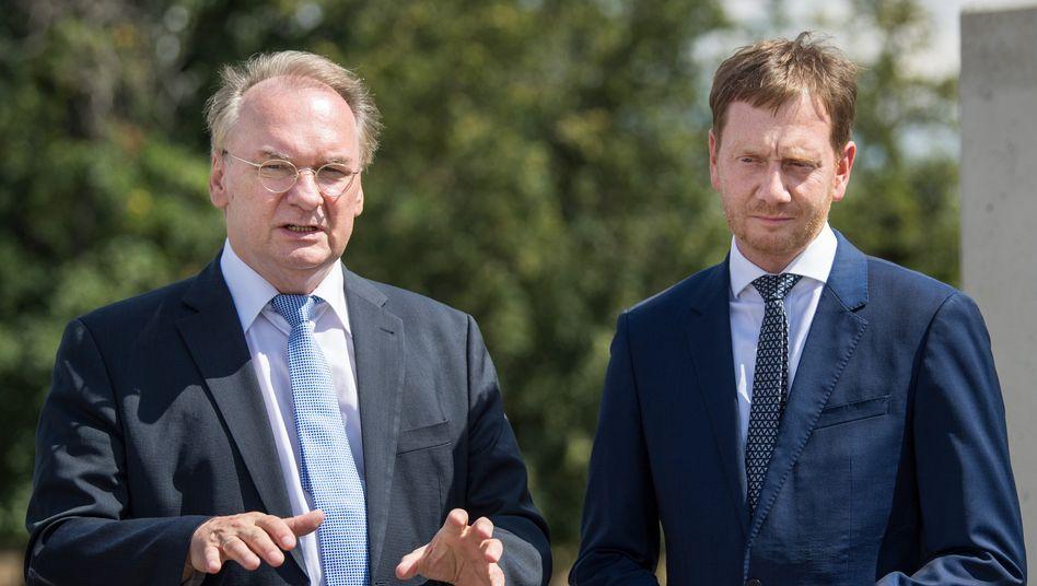 Haseloff und Kretschmer(r., beide CDU) bei einem gemeinsamen Treffen 2018