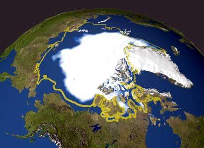 Arktis: Im September 2005 nahm die Nasa ein Allzeit-Minimum der Eisfläche auf. Viele US-Politiker bestreiten den Klimawandel bis heute