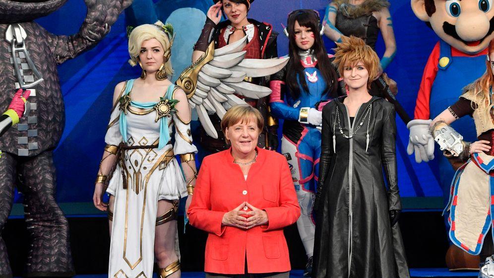 Gamescom: So lief Merkels Besuch auf der Spielemesse