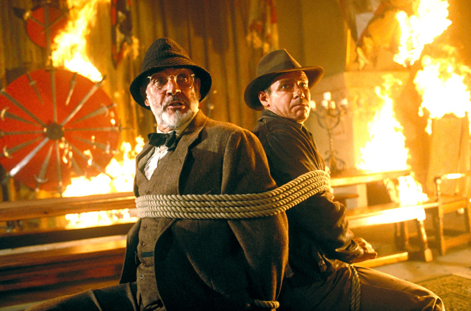 INDIANA JONES AND THE LAST CRUSADE, Sean Connery, Harrison Ford, 1989, (c) Paramount/courtesy Everet