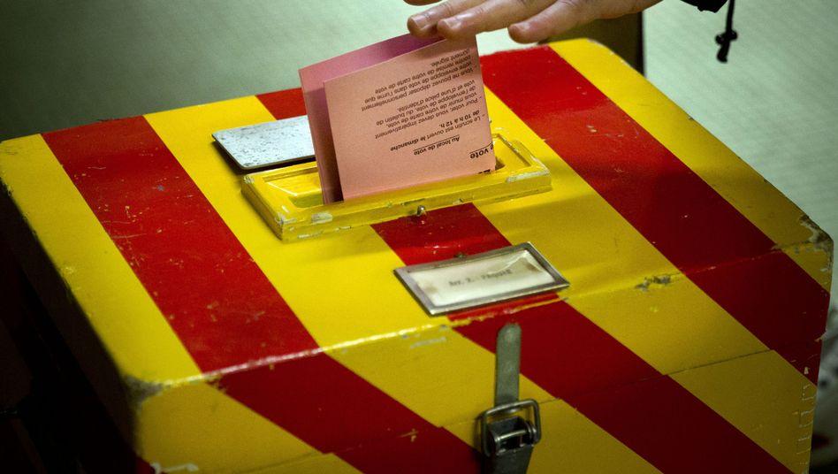 """Wahlurne in Genf (Archivbild): Votum gegen """"Masseneinwanderung"""""""