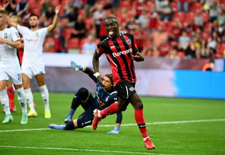 Moussa Diaby überragte für Leverkusen gegen Gladbach