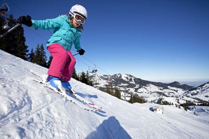 Kind im Skigebiet Sudelfeld