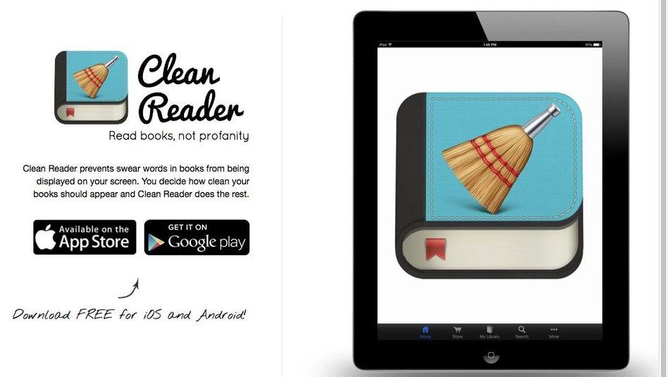 """Die App Clean Reader: Mittlerweile bekommt sie nichts mehr zum """"Reinigen"""""""