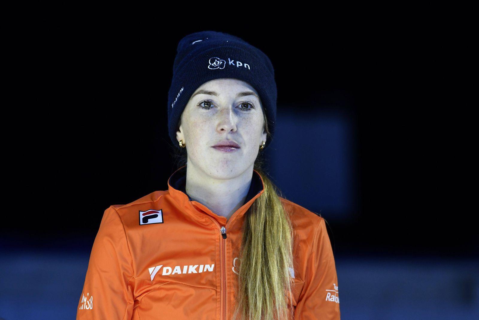 12-01-2019 SHORTTRACK: ISU EUROPEES KAMPIOENSCHAP: DORDRECHT Lara van Ruijven wins bronze in the 500 meter A Final Foto