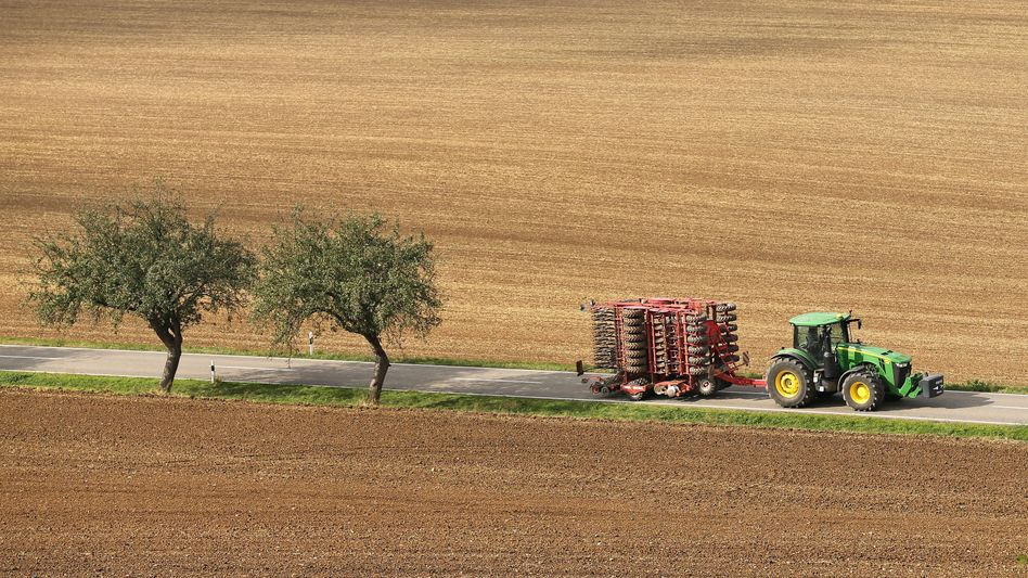 Felder in Sachsen-Anhalt (September 2013): Vergleichbare Erträge