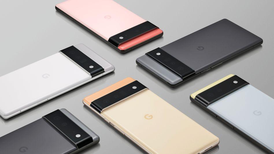Zwei Modelle, sechs Farben: Die neuen Pixel-6-Smartphones