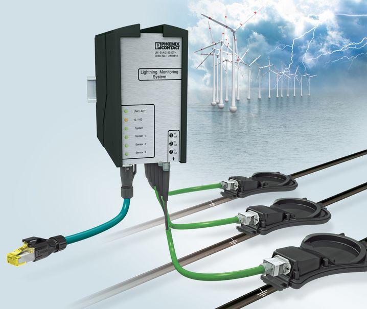 Lightning Monitoring System von Phoenix Contact: Kontrollsystem bei Blitzeinschlägen