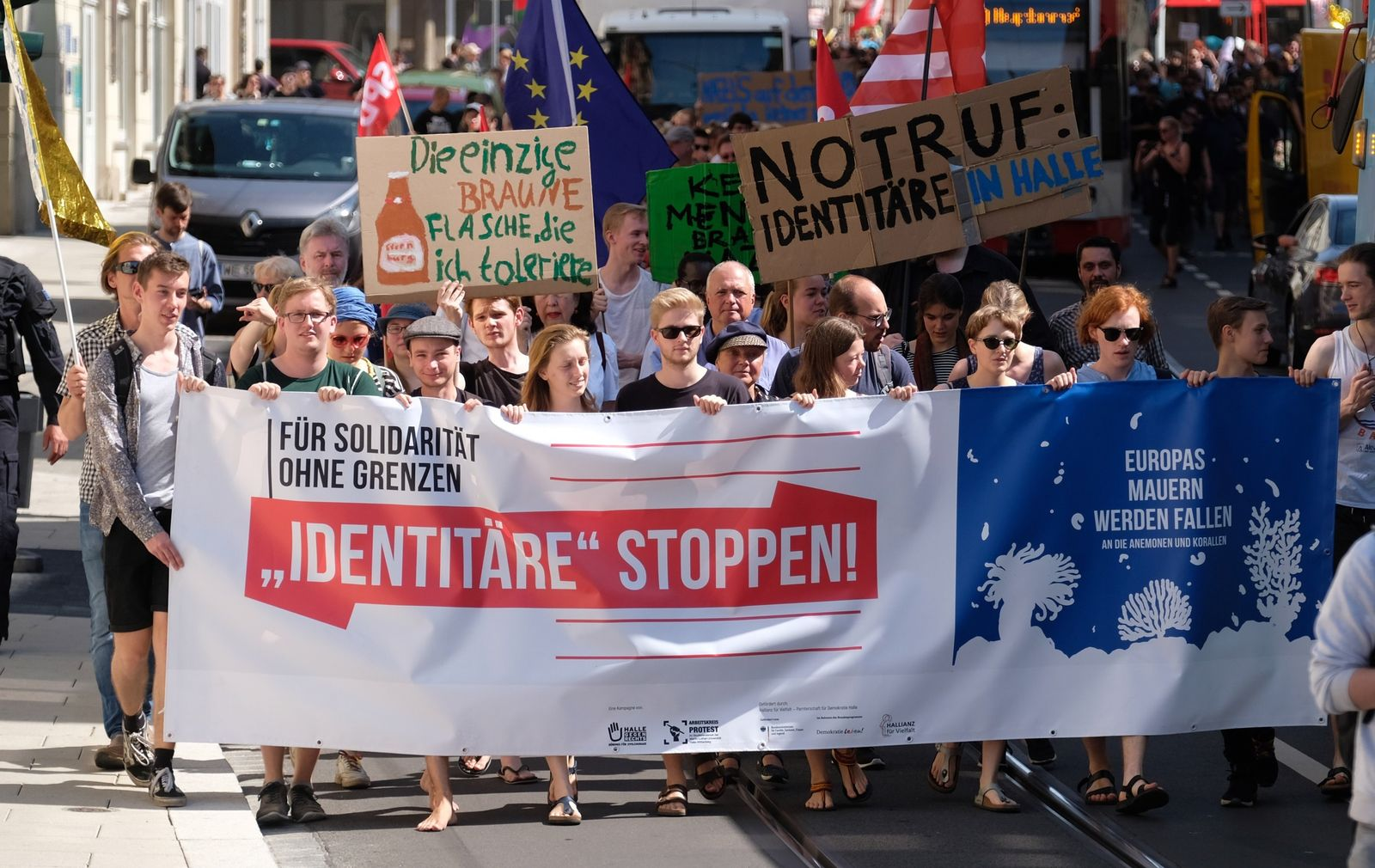 Demo gegen Identitäre Bewegung