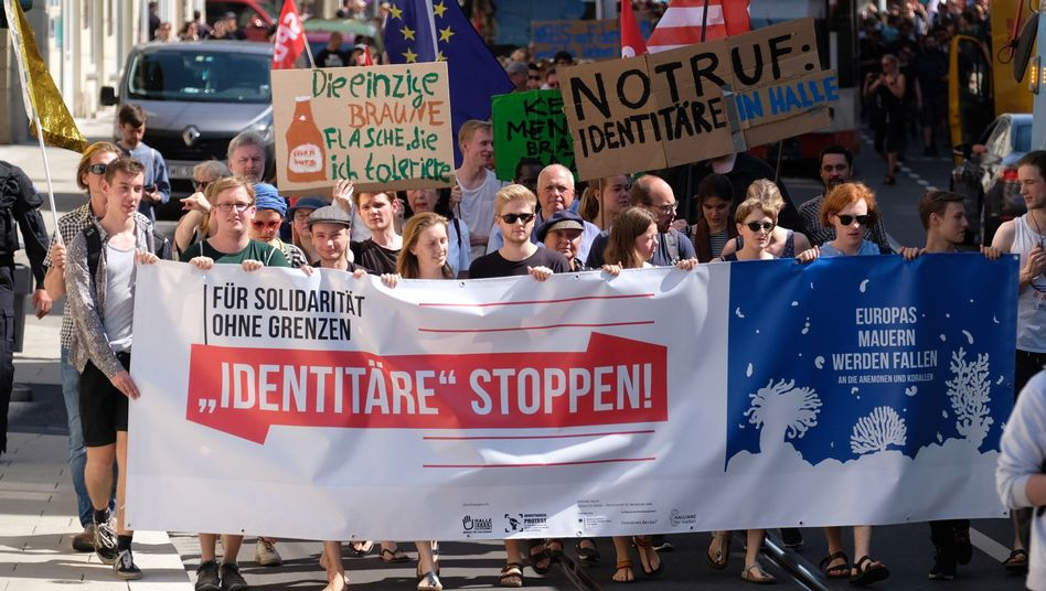 Protest gegen rechts in Halle
