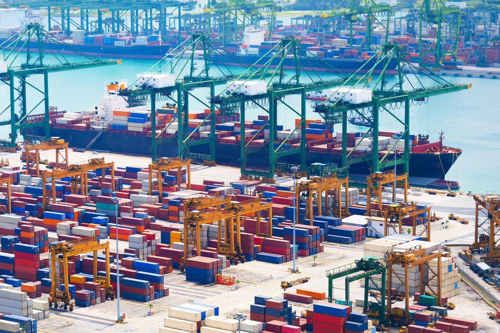 EINMALIGE VERWENDUNG Singapur / Konjunktur / Export / Import / Handel / Wirtschaft / EU