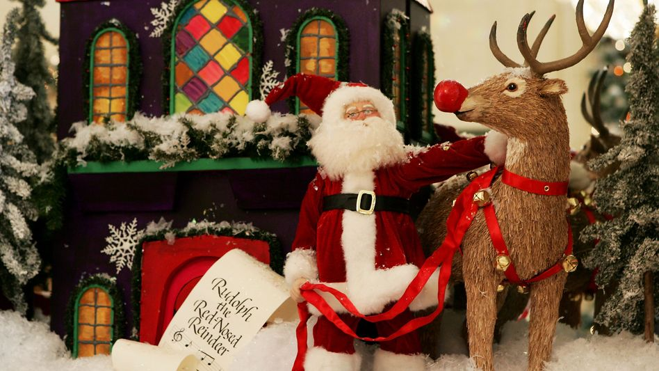 Weihnachtsmann und Rentier: Pulverisierte Geschenke