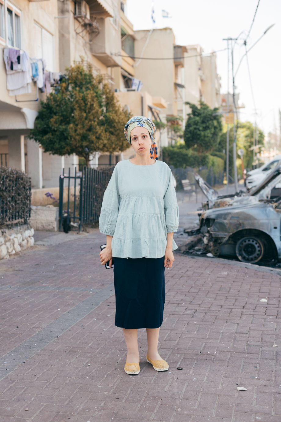 Gil Gabay, a resident of Lod who lives in a building home to both Jewish and Arab Israeli families