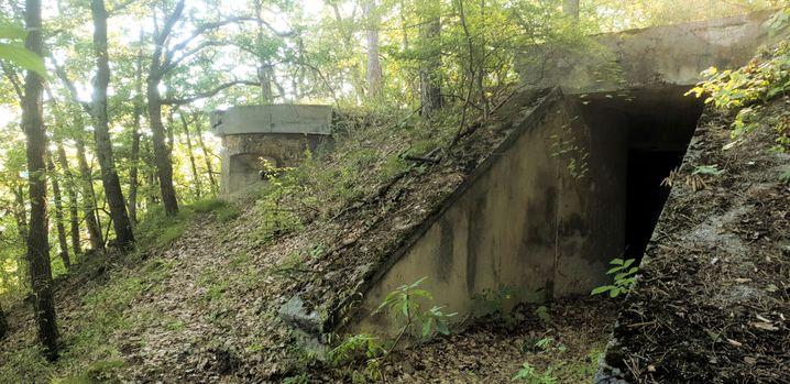 Verborgen im Wald: Einige Fabrikräume blieben erhalten