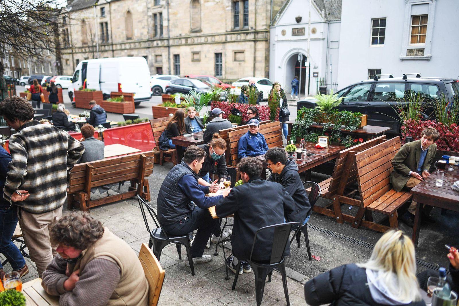 Outdoor Socialising Begins Again In Scotland As Lockdown Measures Are Eased