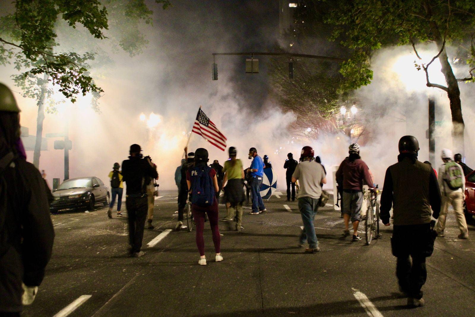 July 22, 2020, Portland, Oregon, U.S: Portland Protests: Mark O Hatfield Courthouse on July 22, 2020: Portland U.S. - Z