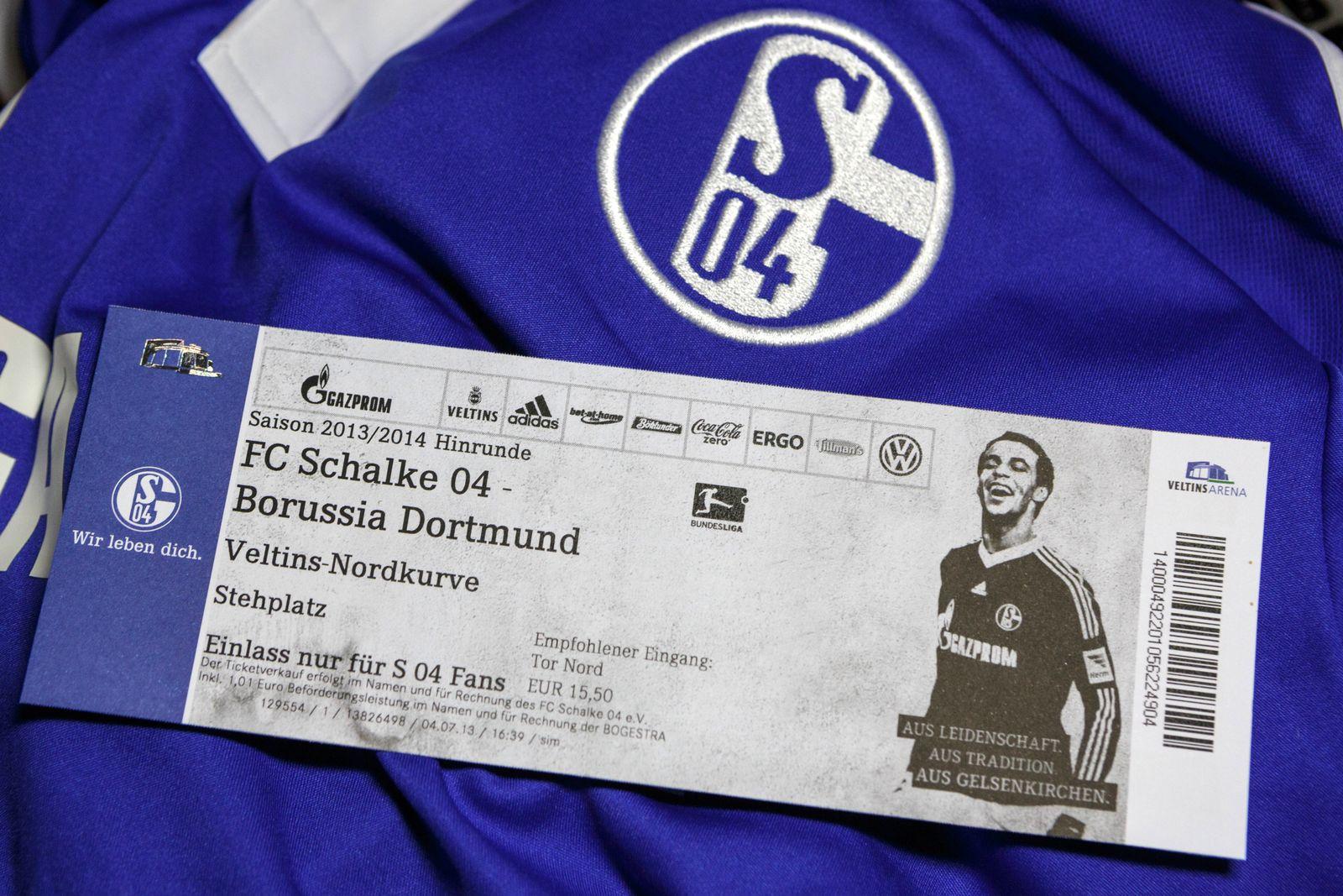 EINMALIGE VERWENDUNG Eintrittskarte/ Ticket/ Schalke vs Dortmund