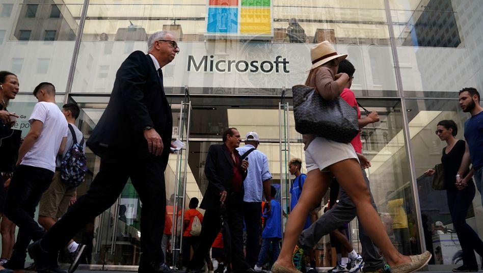 Microsoft-Store in New York: Gute Quartalszahlen