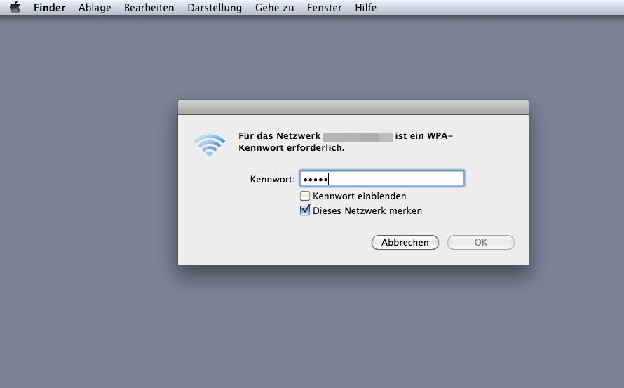 Screenshot / Passwort